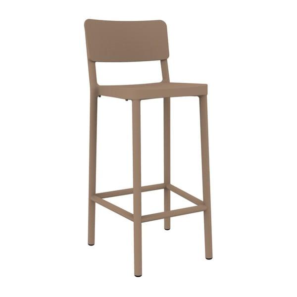 Sada 2 pískově hnědých barových židlí vhodných do exteriéru Resol Lisboa, výška 102,2 cm