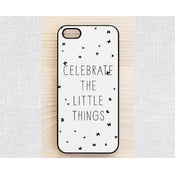 Obal na iPhone 5, Celebrate a little things/black
