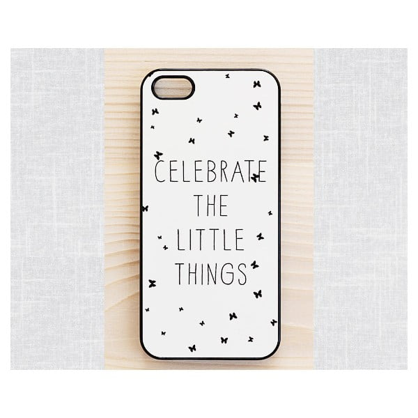 Obal na Samsung Galaxy S3, Celebrate a little things/black