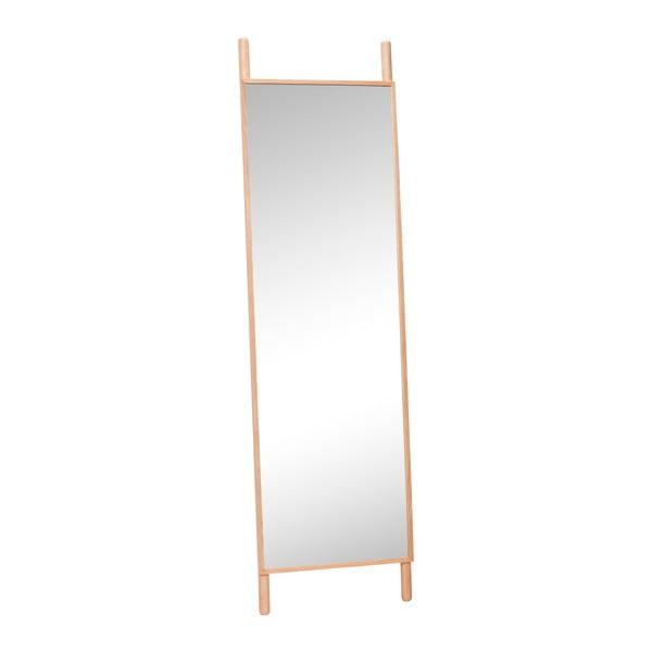 Volně stojící zrcadlo s rámem z dubového dřeva Hübsch Oak Floor Mirror, výška 188 cm