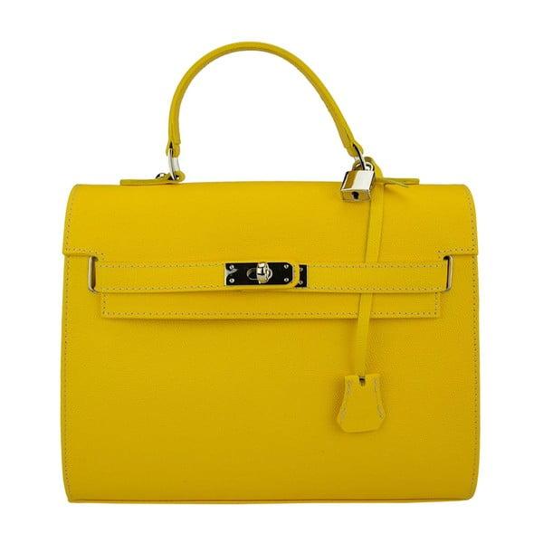 Kožená kabelka Grazia Yellow