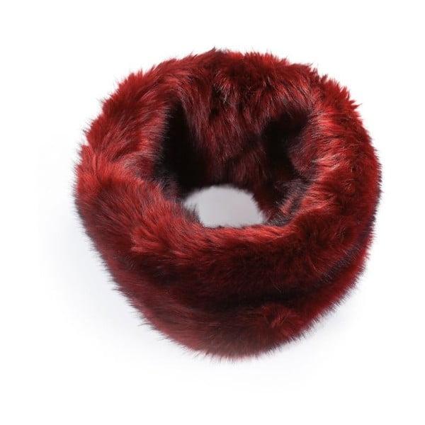 Červený kožešinový nákrčník Lavaii Anthony