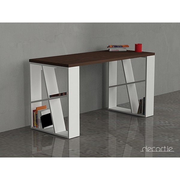 Kancelářský stůl Honey, wenge/bílá