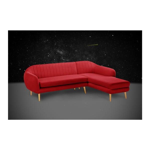Pohovka Comete Red s lenoškou na pravé straně