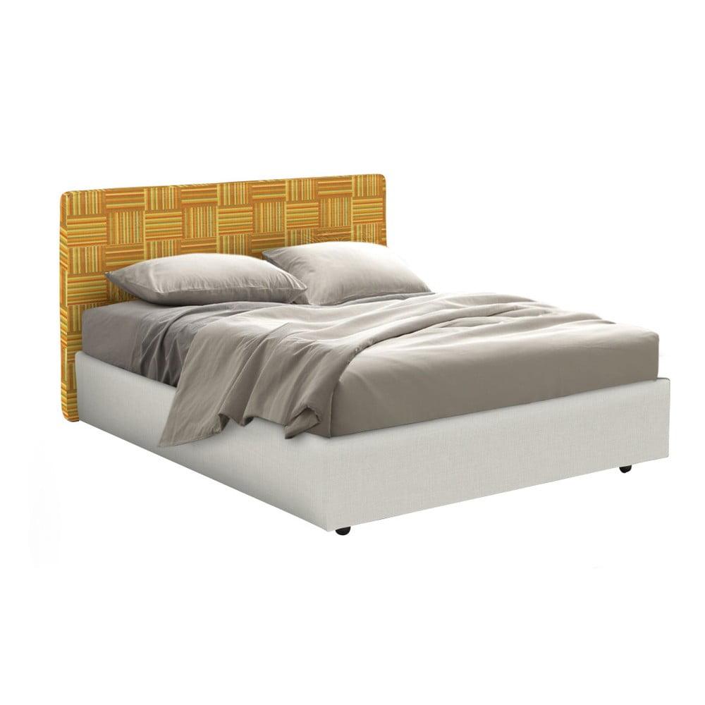 Oranžovo-béžová jednolůžková postel s úložným prostorem 13Casa Ninfea, 120 x 190 cm