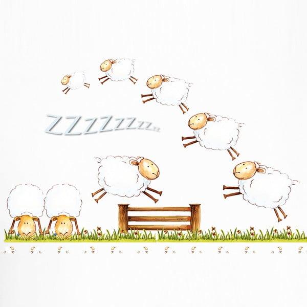 Dekorativní samolepka Counting Sheep