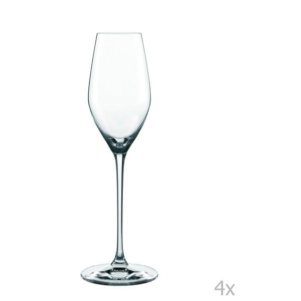 Sada 4 sklenic na šampaňské z křišťálového skla Nachtmann Supreme Champagne Flute, 300 ml