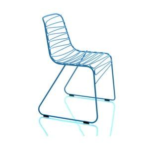 Modrá stohovatelná židle Magis Flux