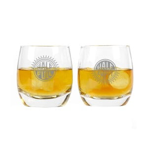 Set 2 pahare pentru whisky Half Full