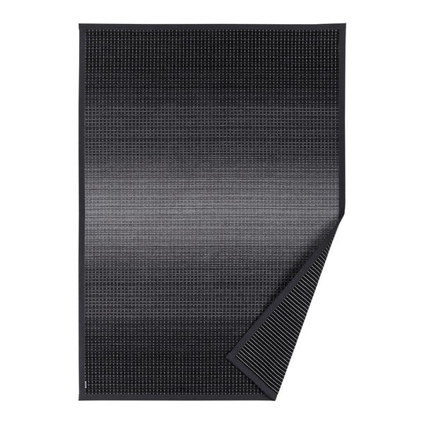 Moka antracitszürke, mintás kétoldalú szőnyeg, 70 x 140 cm - Narma