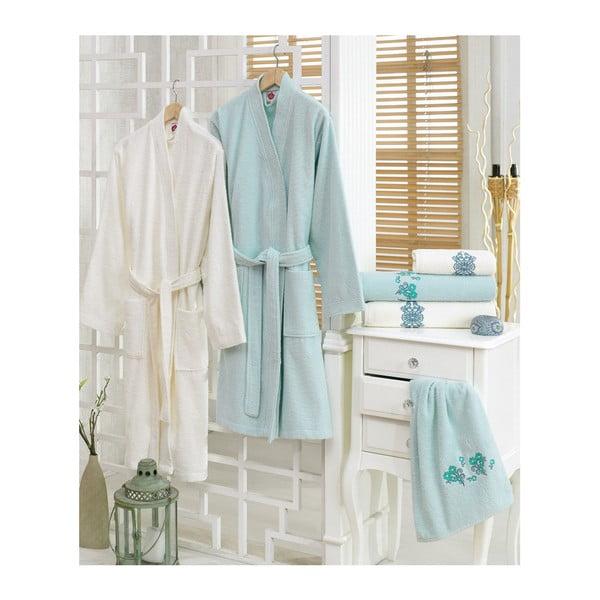 Set 2 županů a 4 ručníků z bavlny Blenda