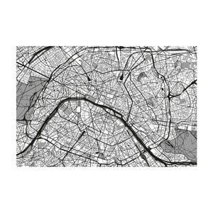 Tablou Homemania Maps France Black, 70 x 100 cm