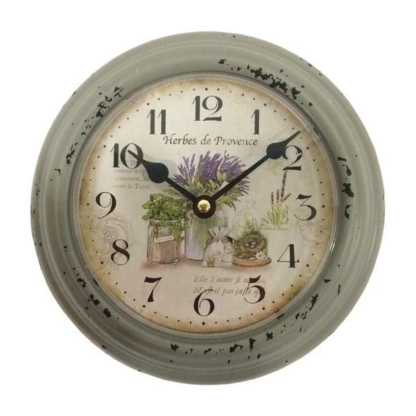 Zelené nástěnné hodiny Bolzonella Lavanda