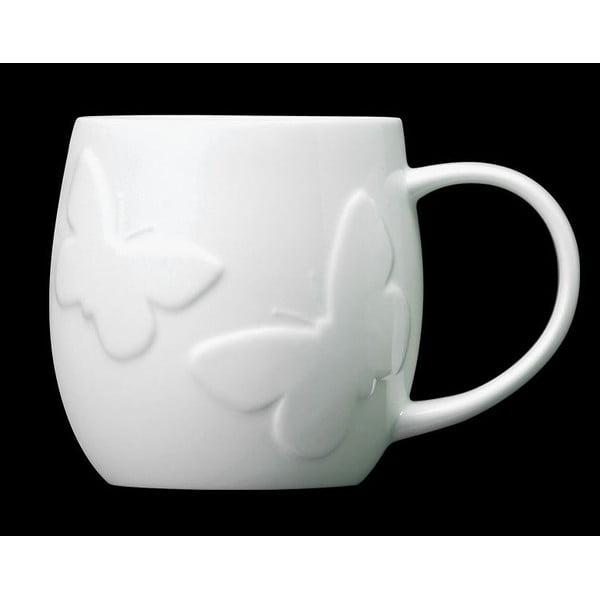 Hrnek z kostního porcelánu Plum Butterfly