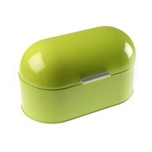Zelený kovový chlebník Versa