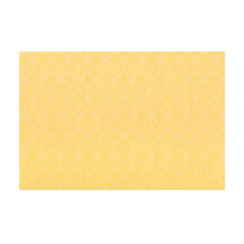 Șervet decorativ Tiseco Home Studio Cubes, 45 x 30 cm, galben imagine