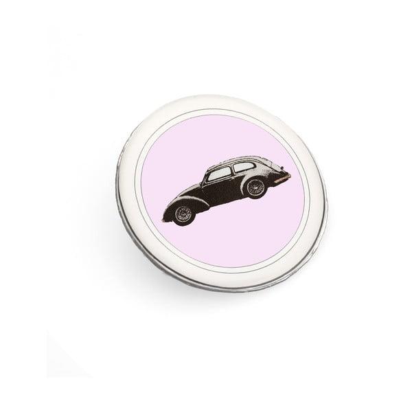 Brož Černé autíčko Monsieur Chic miluje růžovou od Lucie Markové