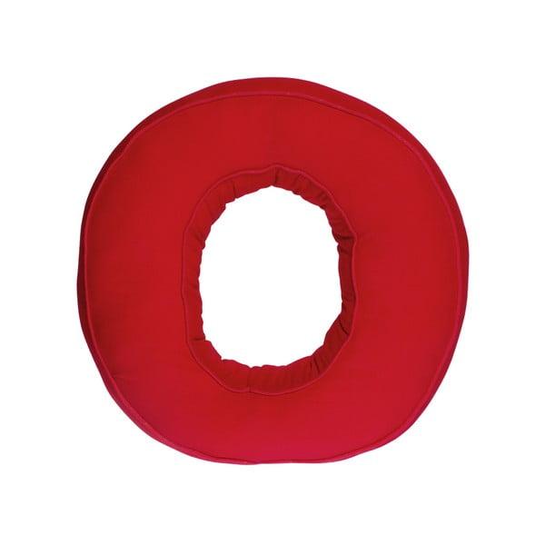 Látkový polštář O, červený
