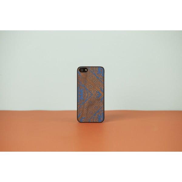 Dřevěný obal na iPhone Maiolica Blue