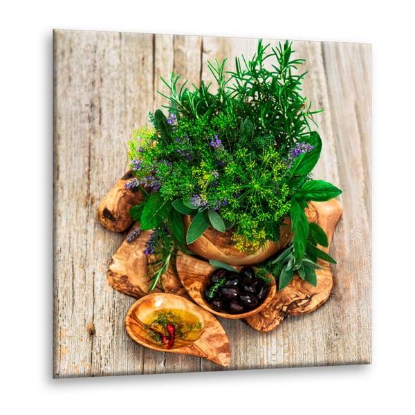 Obraz Styler Glasspik Kitchen Fennel, 30 x 30 cm