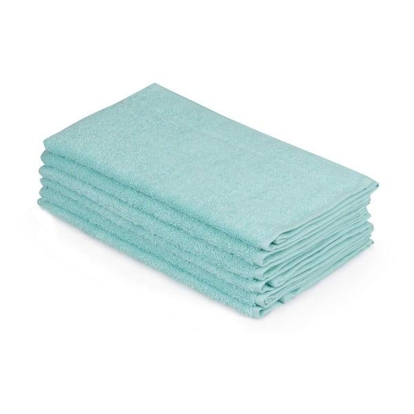 Sada šesti světle modrých ručníků Beverly Hills Polo Club, 50x30cm
