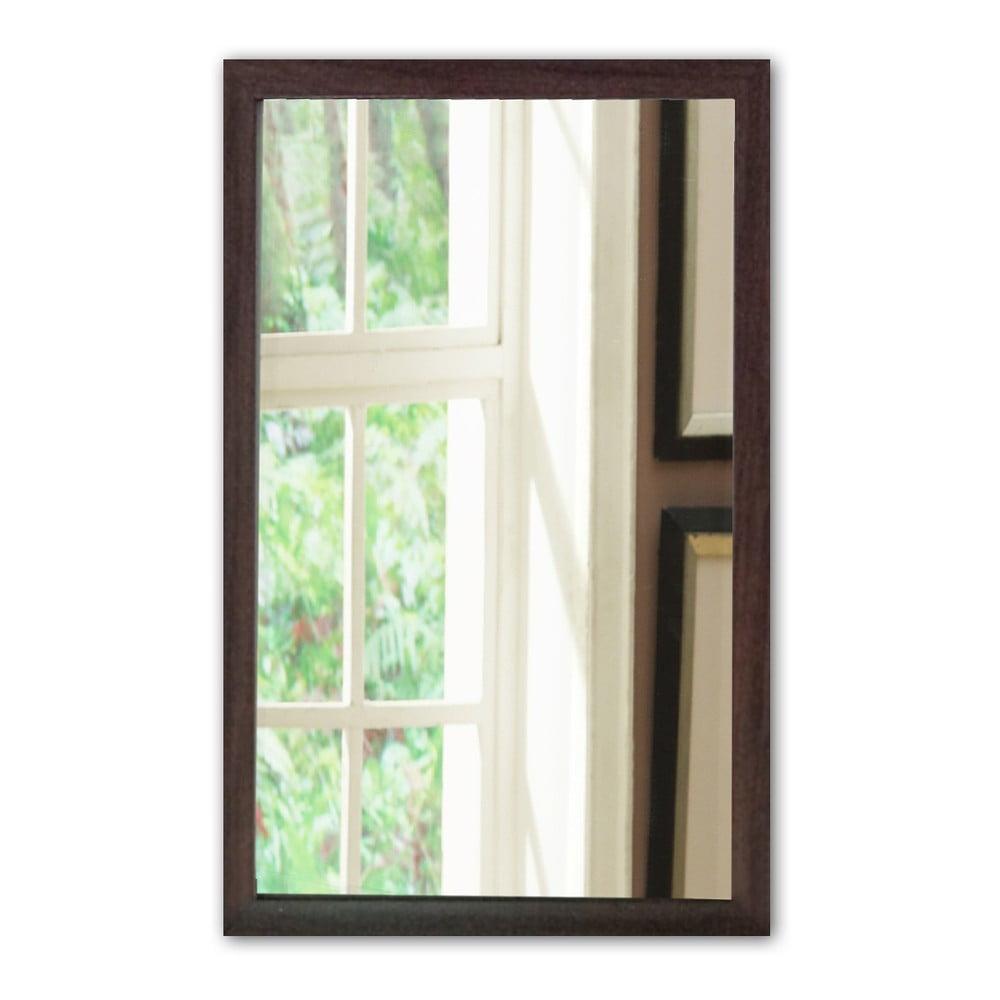 Nástěnné zrcadlo s hnědým rámem Oyo Concept, 40 x 55 cm