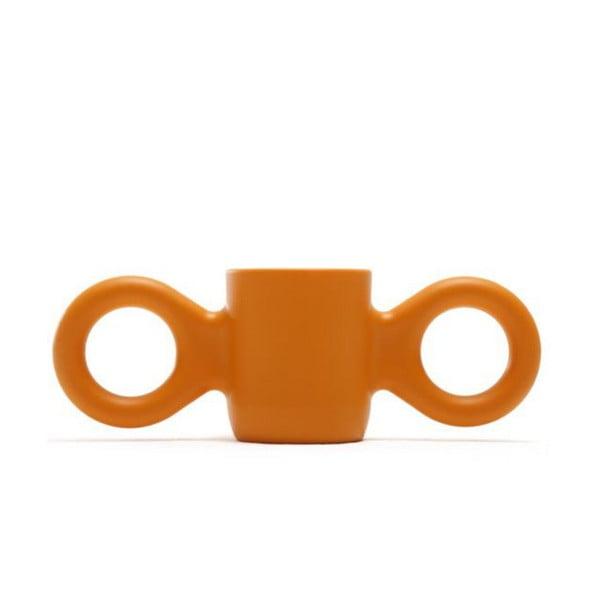 Hrnek Domoor se dvěma uchy, oranžový