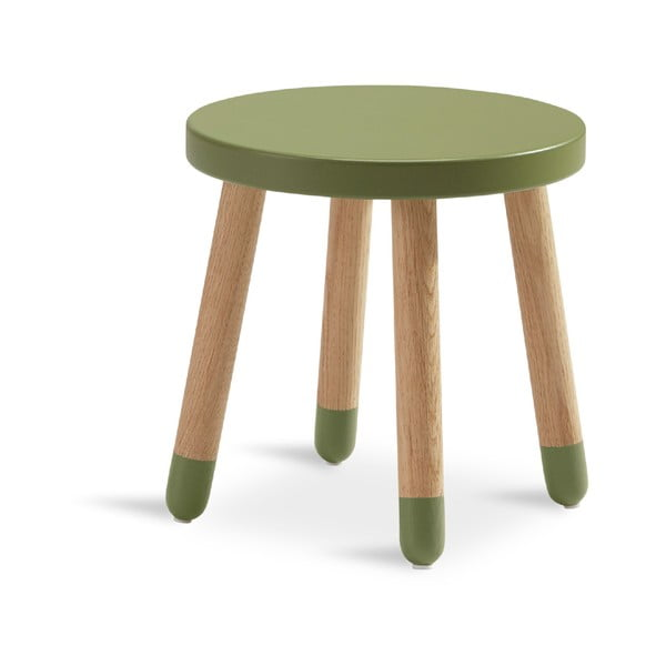 Zielony stołek dziecięcy Flexa Play, ø 30 cm