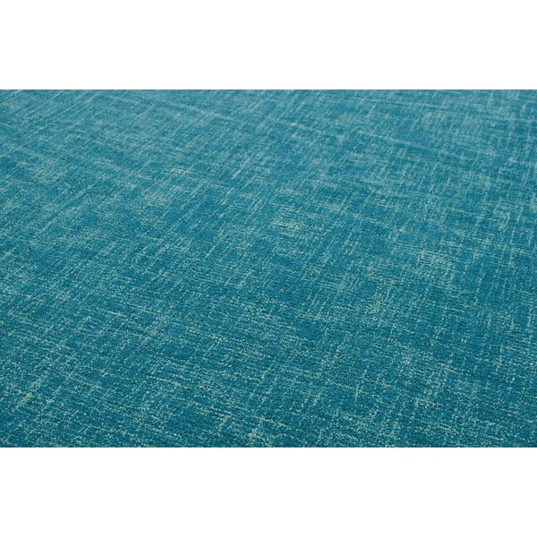 Vlněný koberec Tweed Teal, 170x240 cm