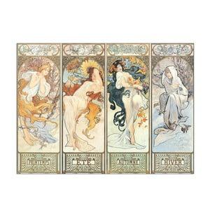 Obraz Mucha - Les saisons, 1897, 42x31 cm
