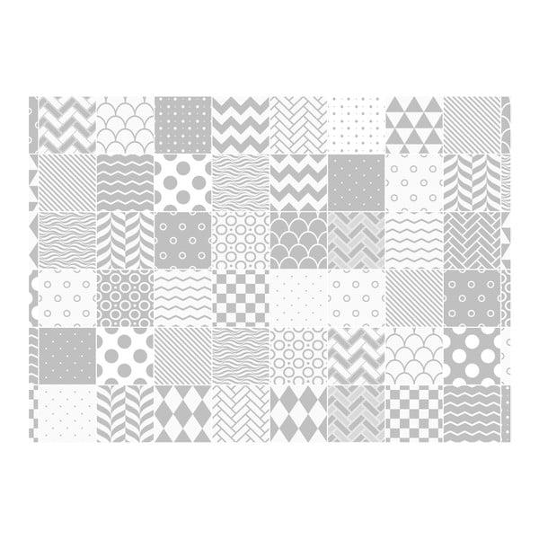 Ambinace Cardiff 60 részes dekorációs falmatrica szett, 15 x 15 cm - Ambiance