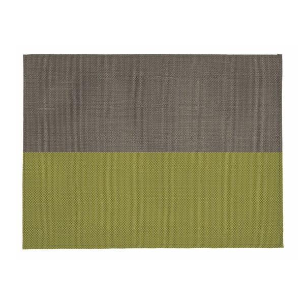 Beżowo-zielona mata stołowa Tiseco Home Studio Stripe, 33x45 cm