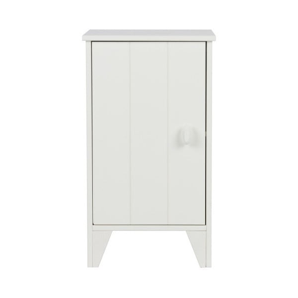 Bílý dřevěný noční stolek WOOOD Nikki
