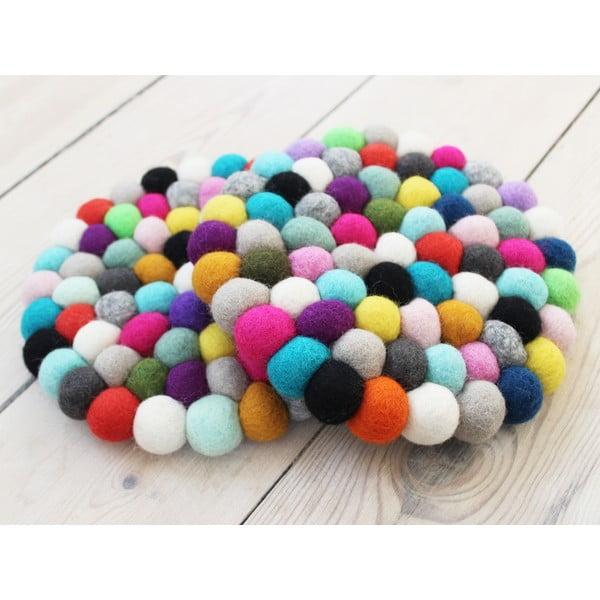 Ball Coaster Multi Pang golyós gyapjúalátét, ⌀ 20 cm - Wooldot