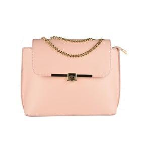 Růžová kožená kabelka Matilde Costa Salem