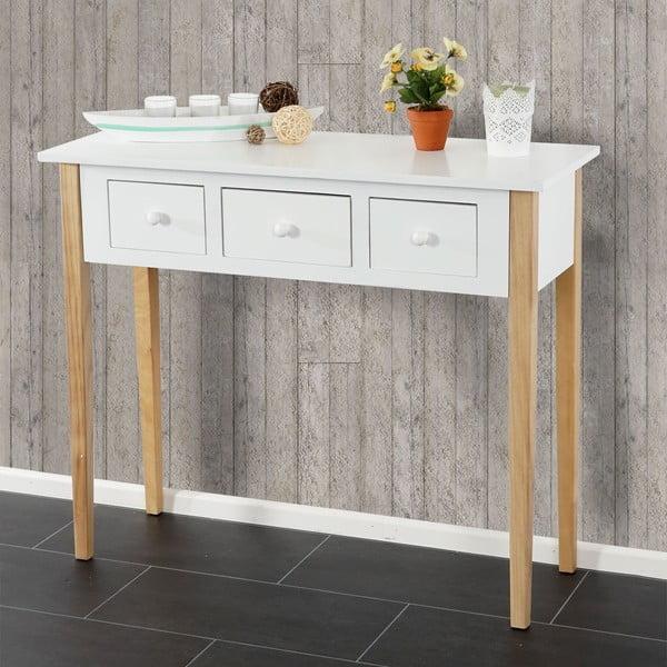 Konzolový stolek Vaasa Retro White