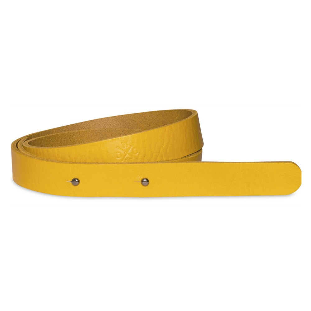 Žlutý dámský kožený pásek Woox Bini Lutea, délka 102 cm
