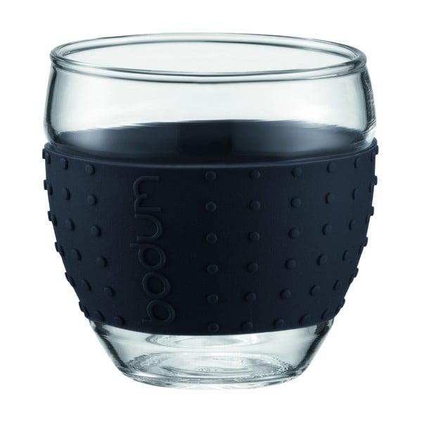 Sada 2 sklenic Pavina Small, černý proužek