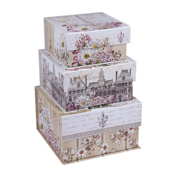 Set 3 cutii depozitare Tri-Coastal Design Toujour Provence