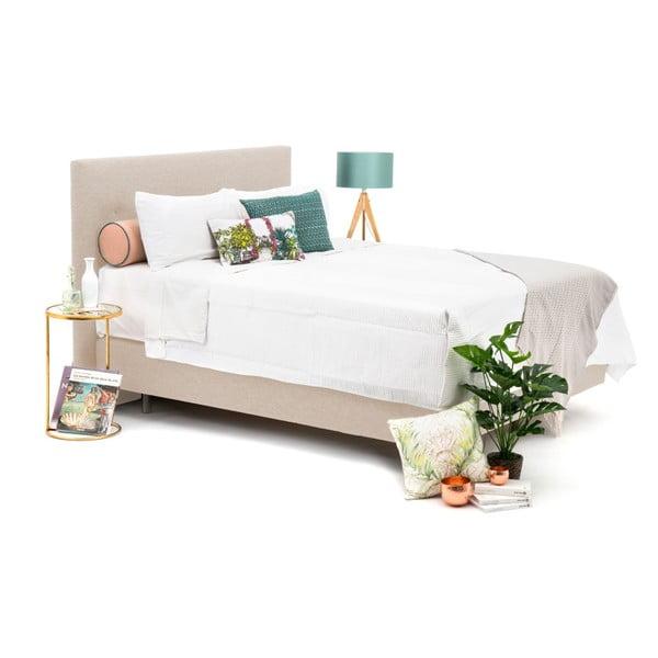 Pískově hnědá boxspring postel Vivonita Lando, 200x200cm