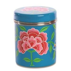 Dóza Franjipani Floral Tin, modrá