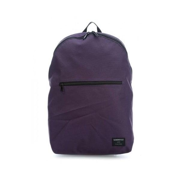 Tmavě fialový batoh z ripstopu Sandqvist Oliver