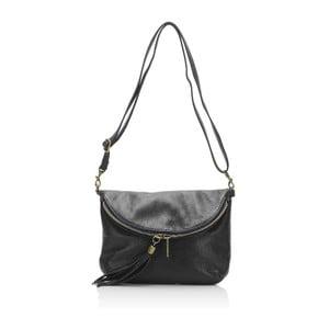 Černá kožená kabelka Lisa Minardi Renae