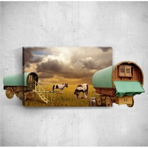 Nástěnný 3D obraz Mosticx Countryside, 40 x 60 cm