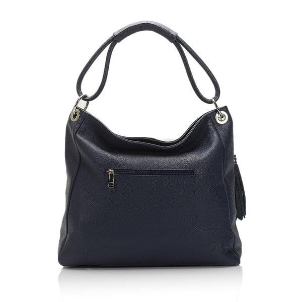 Tmavě modrá kožená kabelka Lisa Minardi Herta