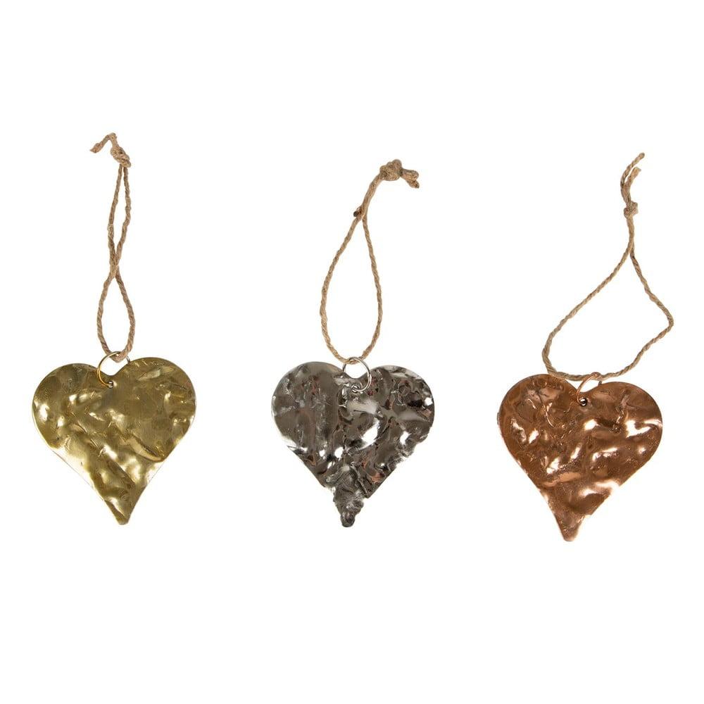 Sada 3 kusů dekorací Sass & Belle Hearts