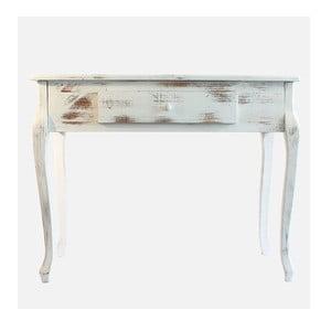 Dřevěný stolek White Days, 98x77 cm