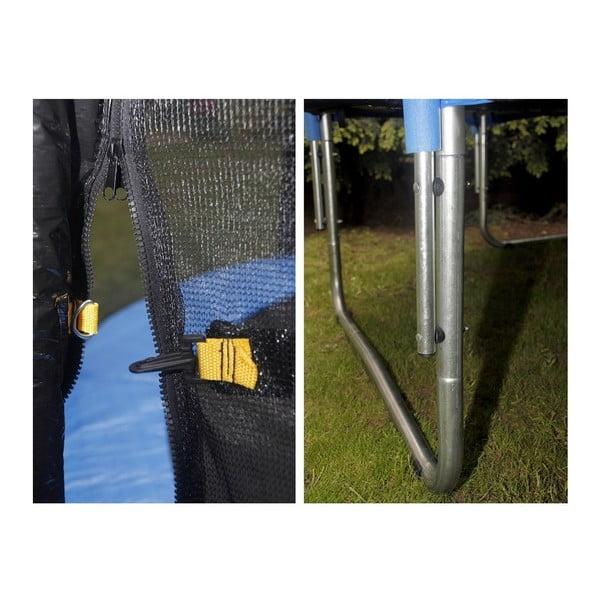Trampolína s ochranou sítí a žebříkem, 244 cm