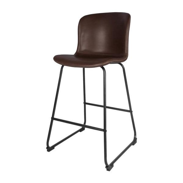 Barová tmavě hnědá židle Interstil Story Bar Stool