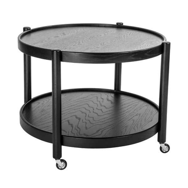 Odkládací stolek na kolečkách Max Black, 80 cm